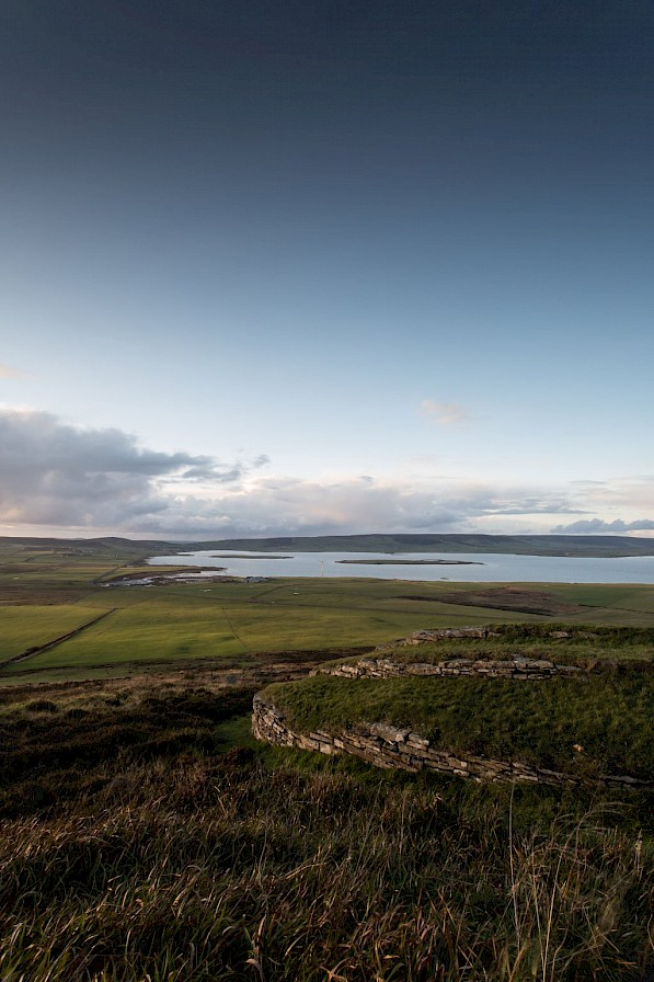 View over the Wideford Hill Cairn, Orkney