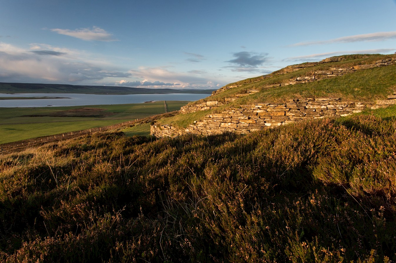 View from the Wideford Hill Cairn, Orkney
