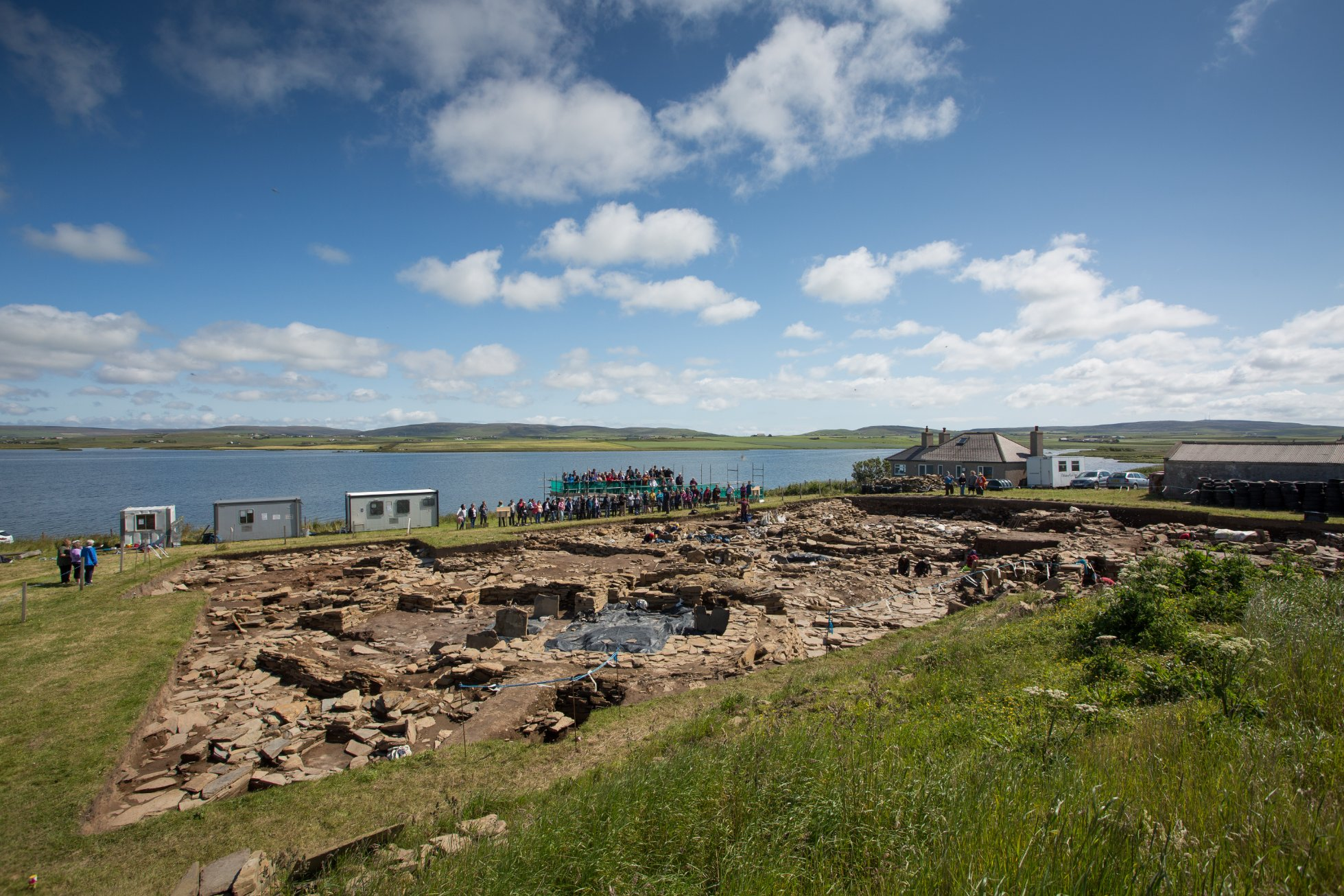 Visitors at the Ness of Brodgar, Orkney