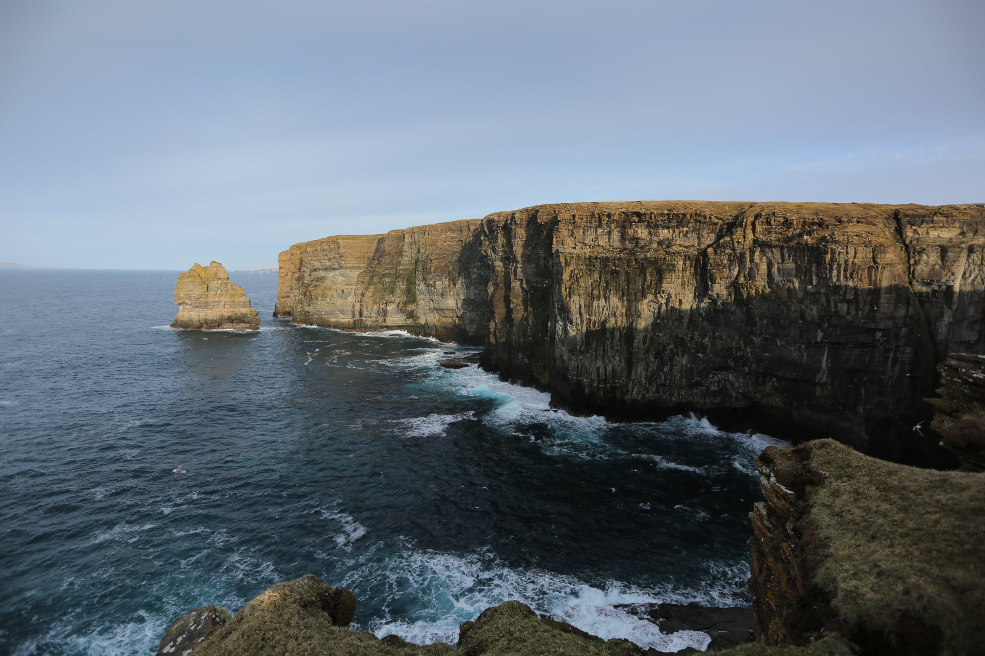 Costa Head and the Standard sea-stack, Orkney