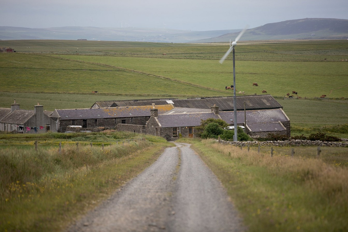 Domestic wind turbine in Shapinsay, Orkney
