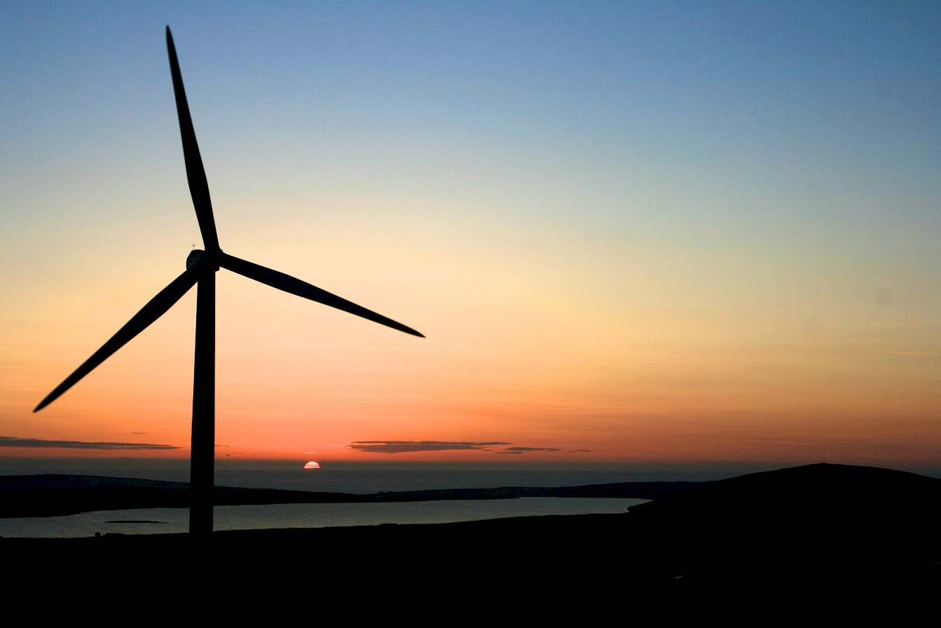 Wind turbine in Orkney - image by Colin Keldie