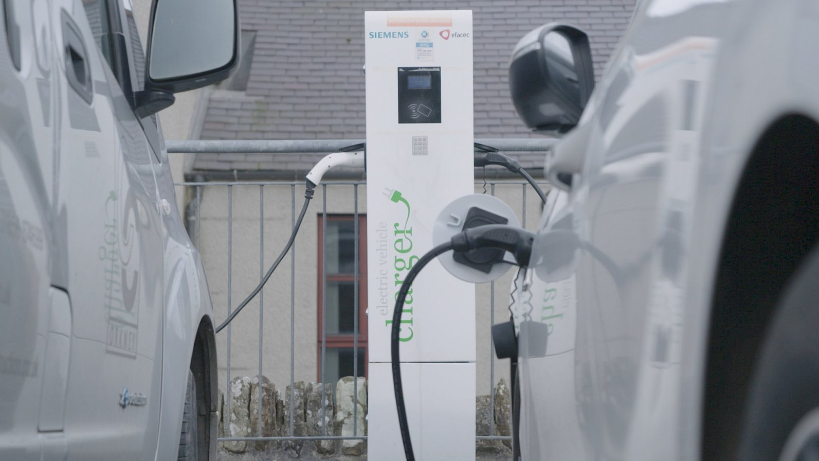 Electric vehicles recharging in Orkney