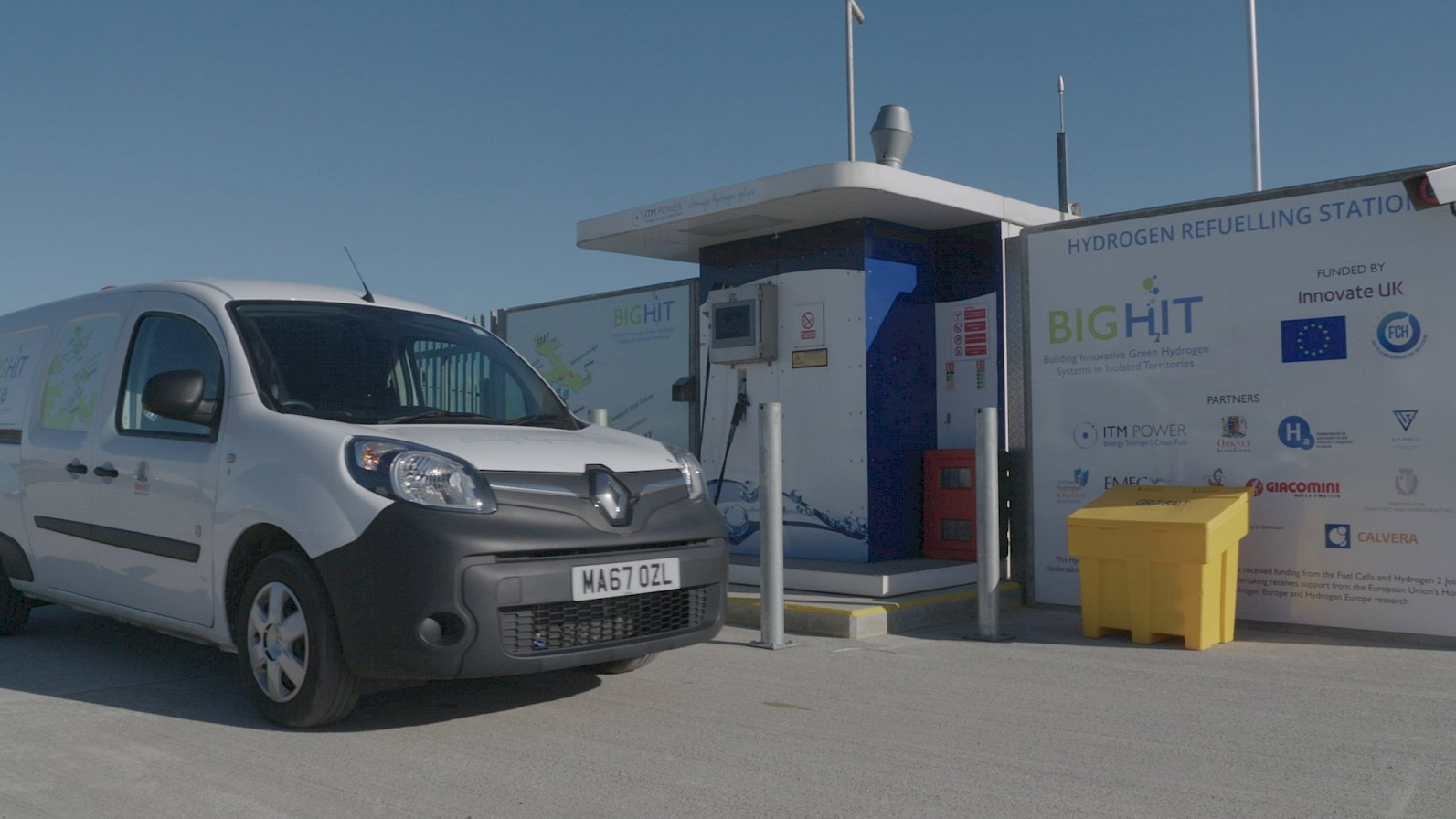 Hydrogen refuelling station in Orkney