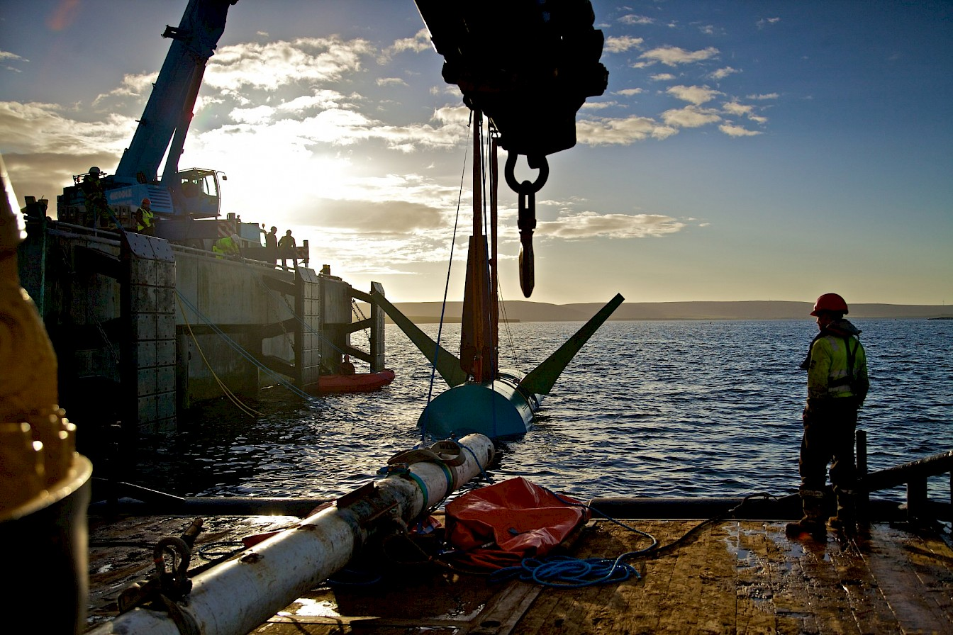 Tidal energy work underway in Orkney - image by Colin Keldie