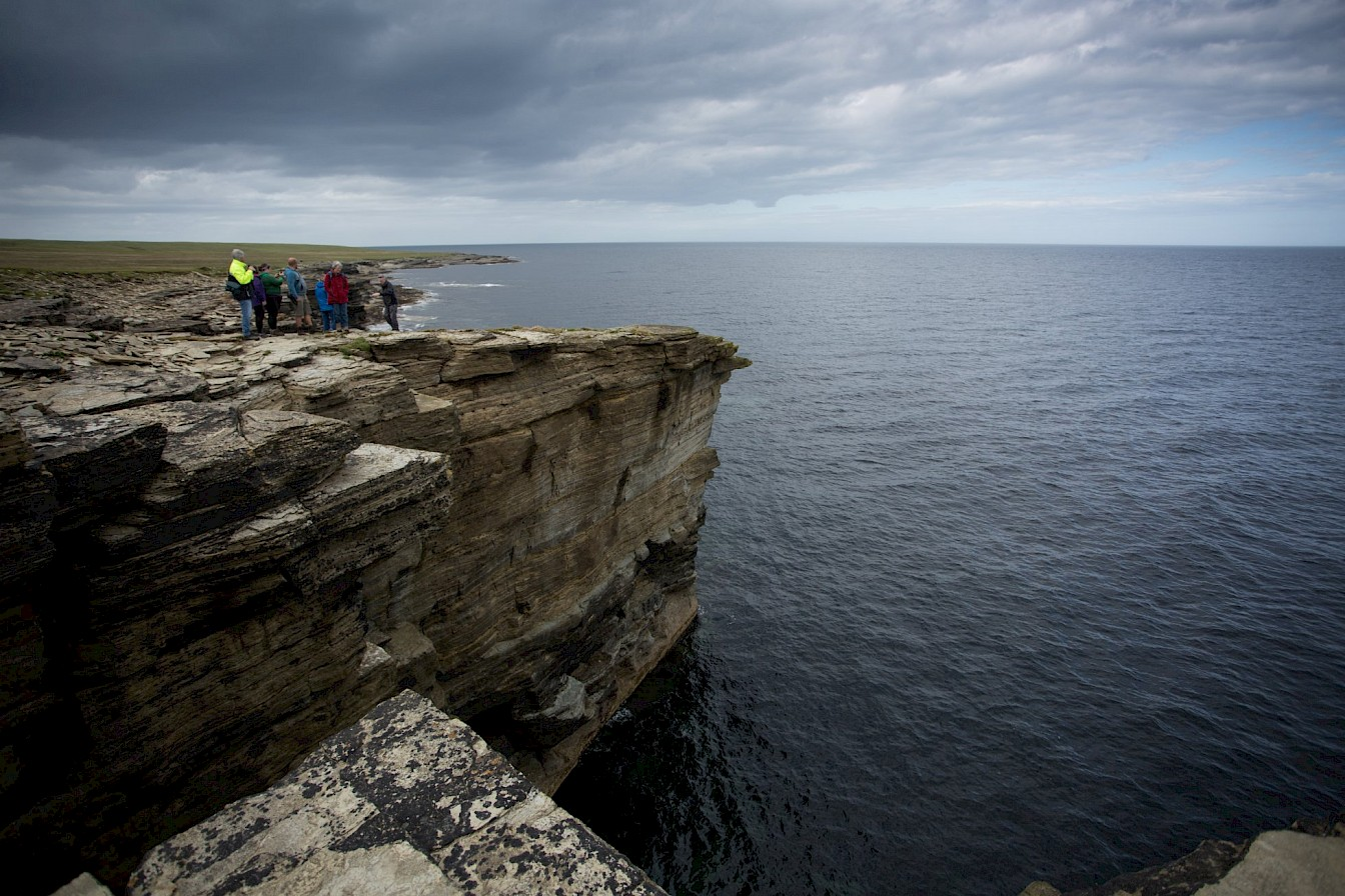 Cliff views in Papa Westray