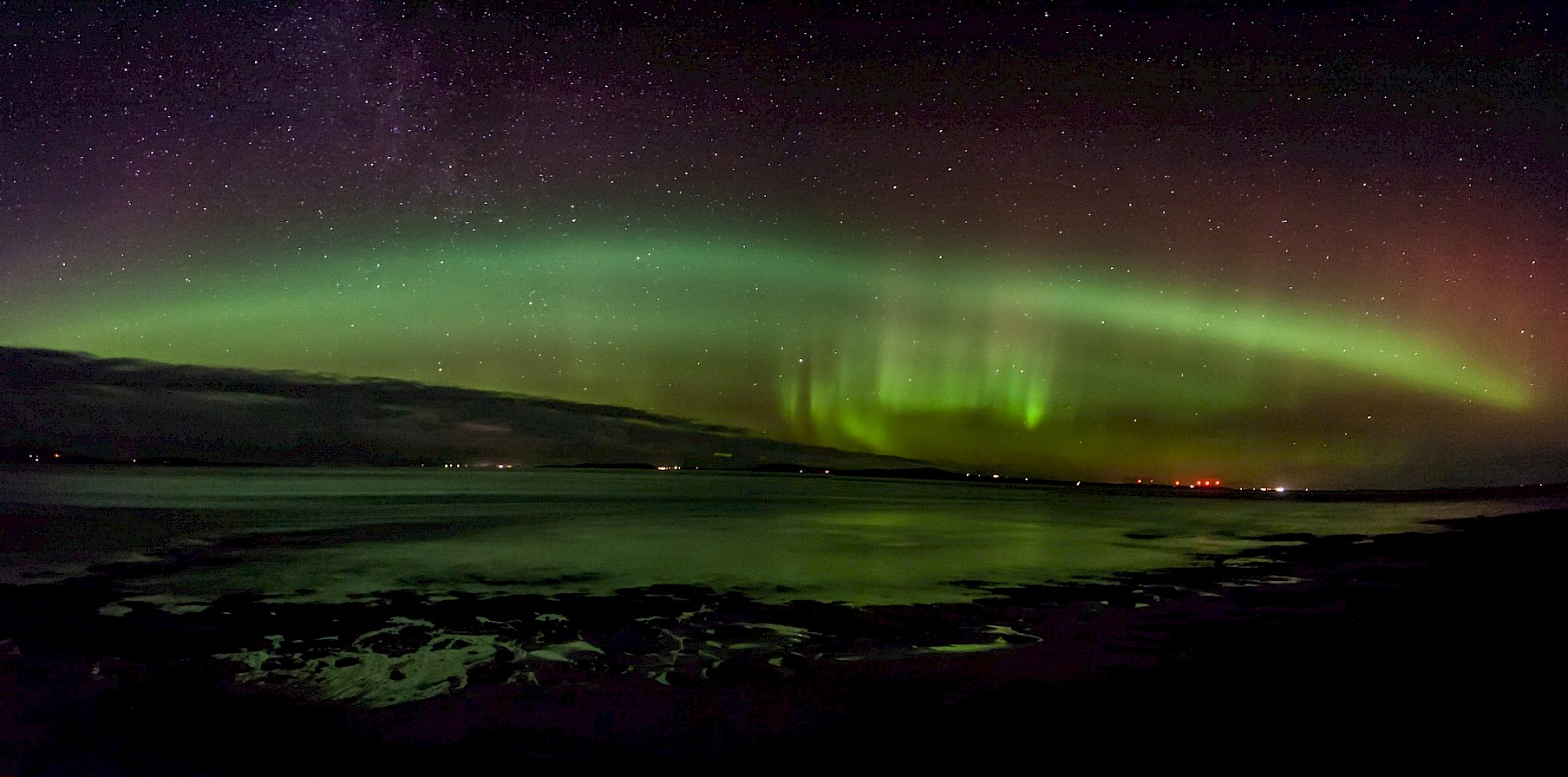 Aurora over Shapinsay - image by Callum Orr