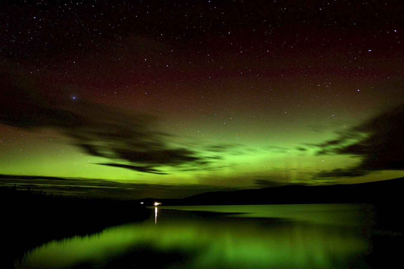 Aurora over Kirbister Loch in Orkney - image by John Wishart