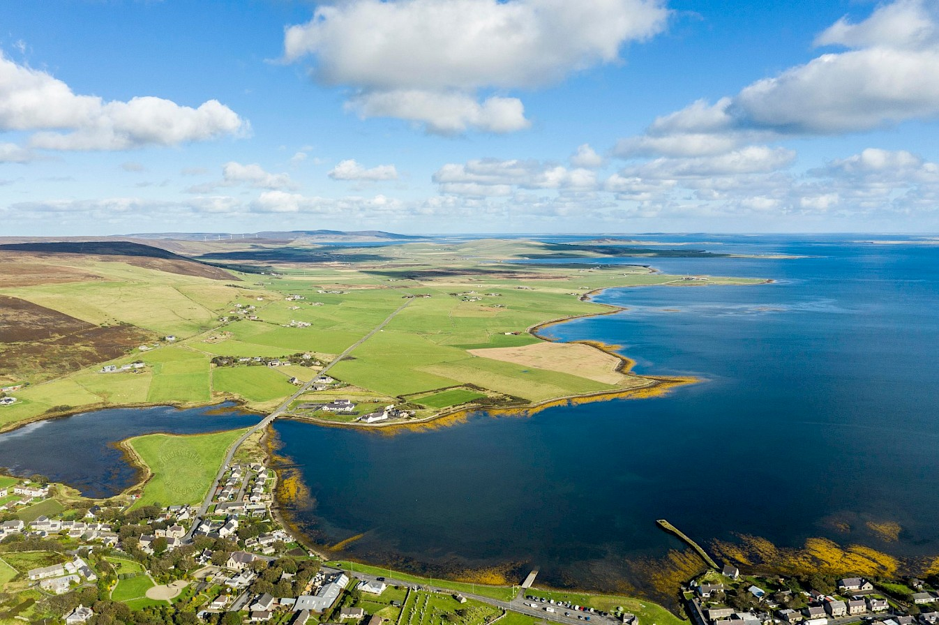 The view over Finstown and the Bay of Firth - image by Andras Farkas