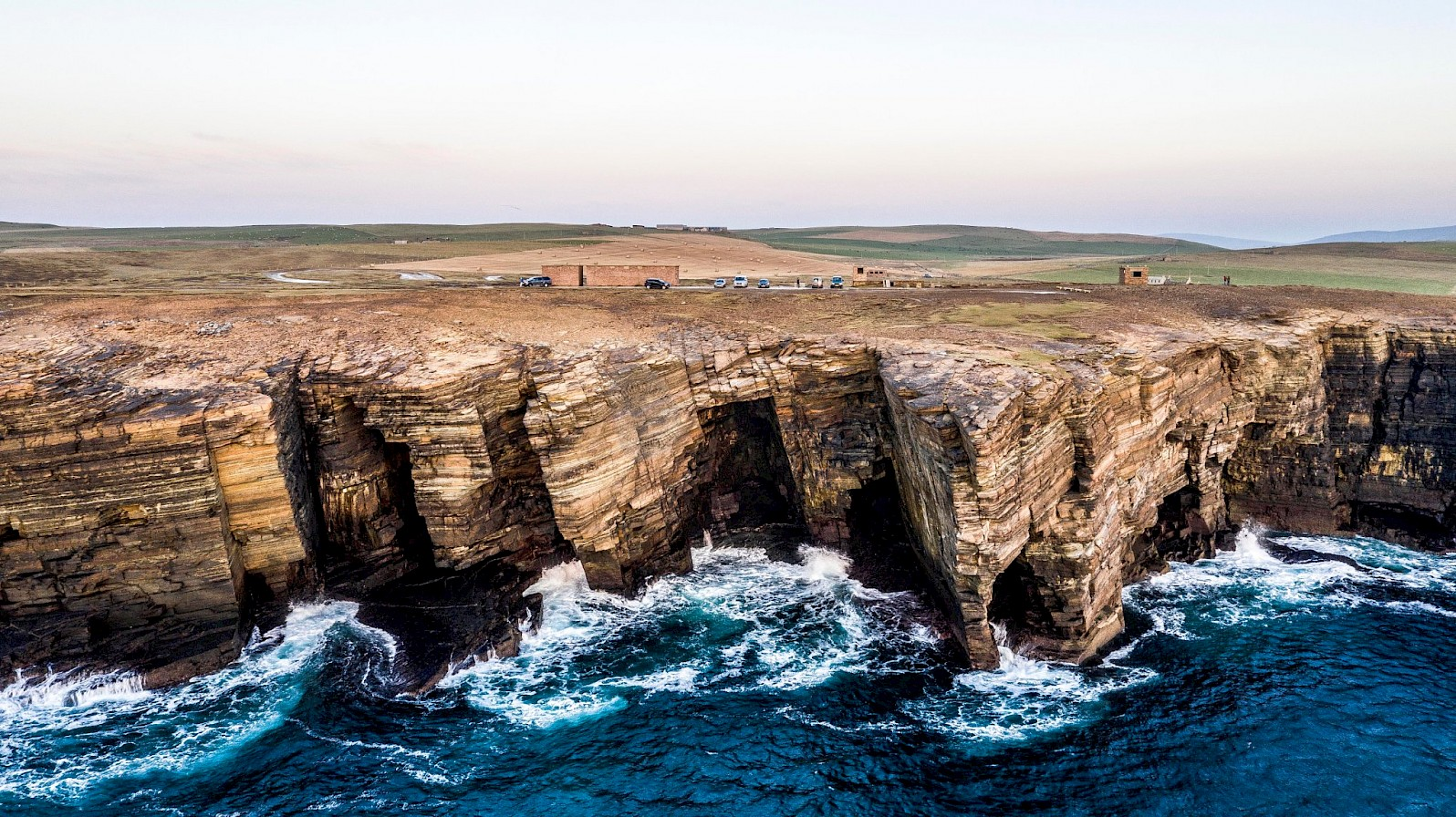 The cliffs at Yesnaby - image by Andras Farkas