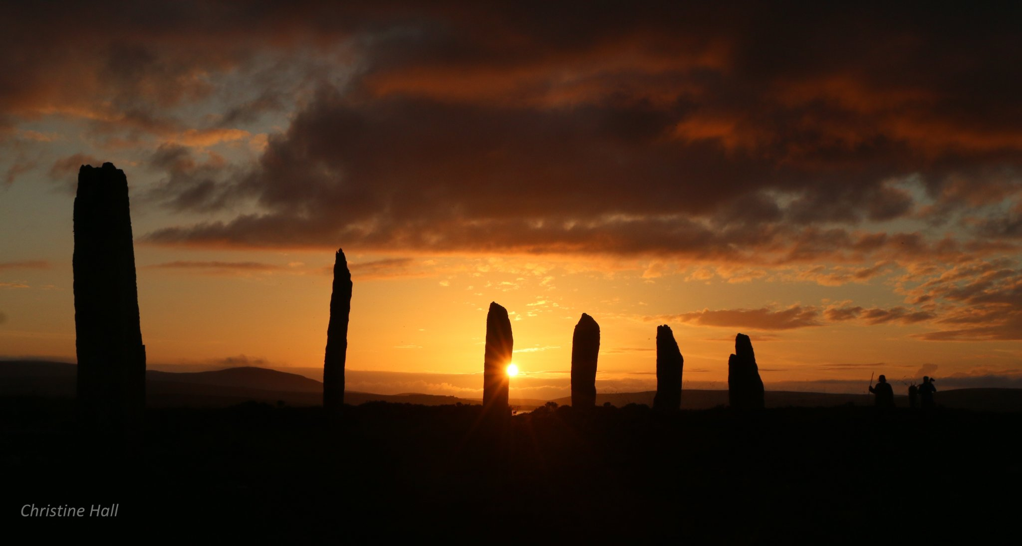Sunset at the Ring of Brodgar - image by Christine Hall