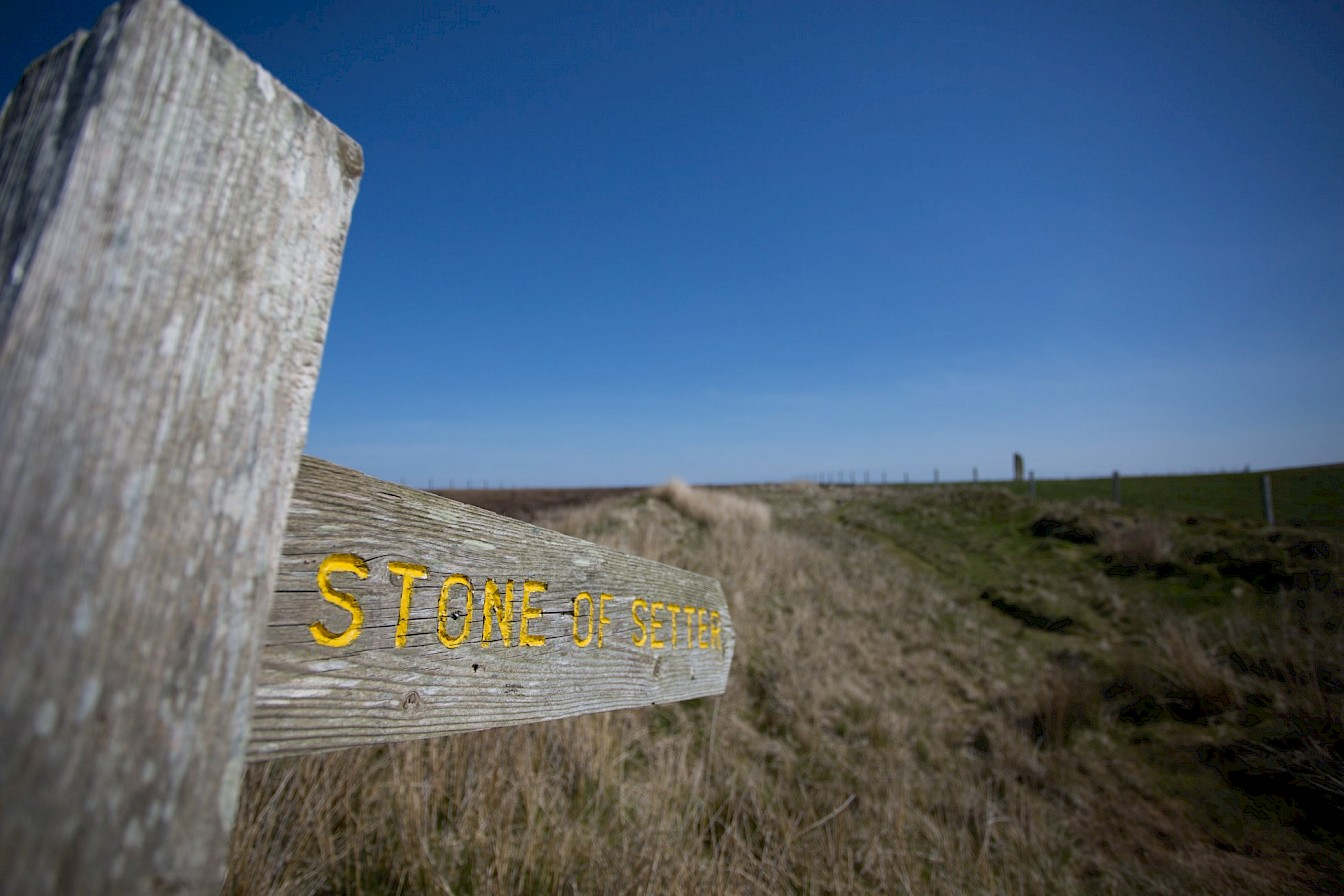 Signpost at the Stone of Setter, Eday