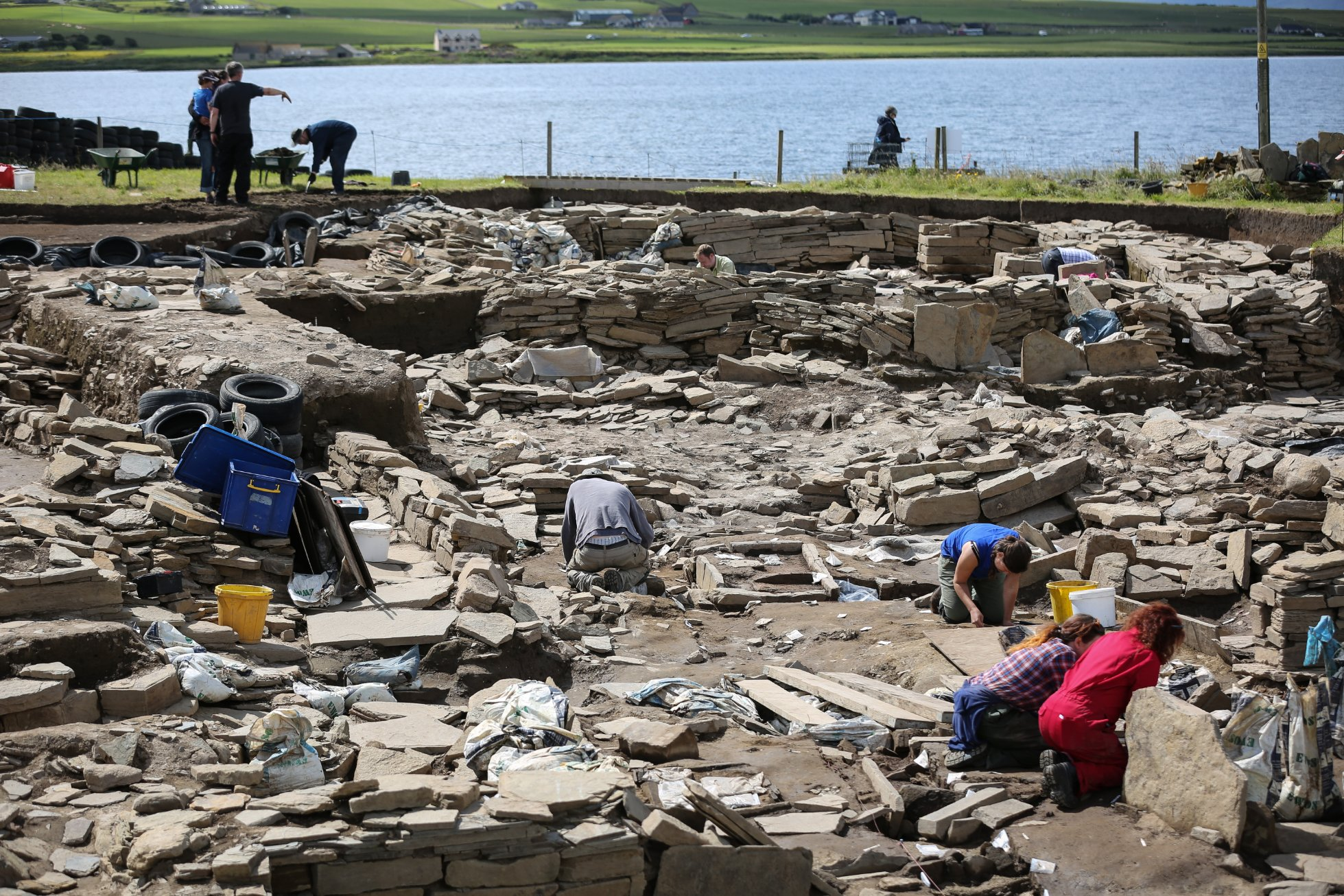 Excavation work at the Ness of Brodgar