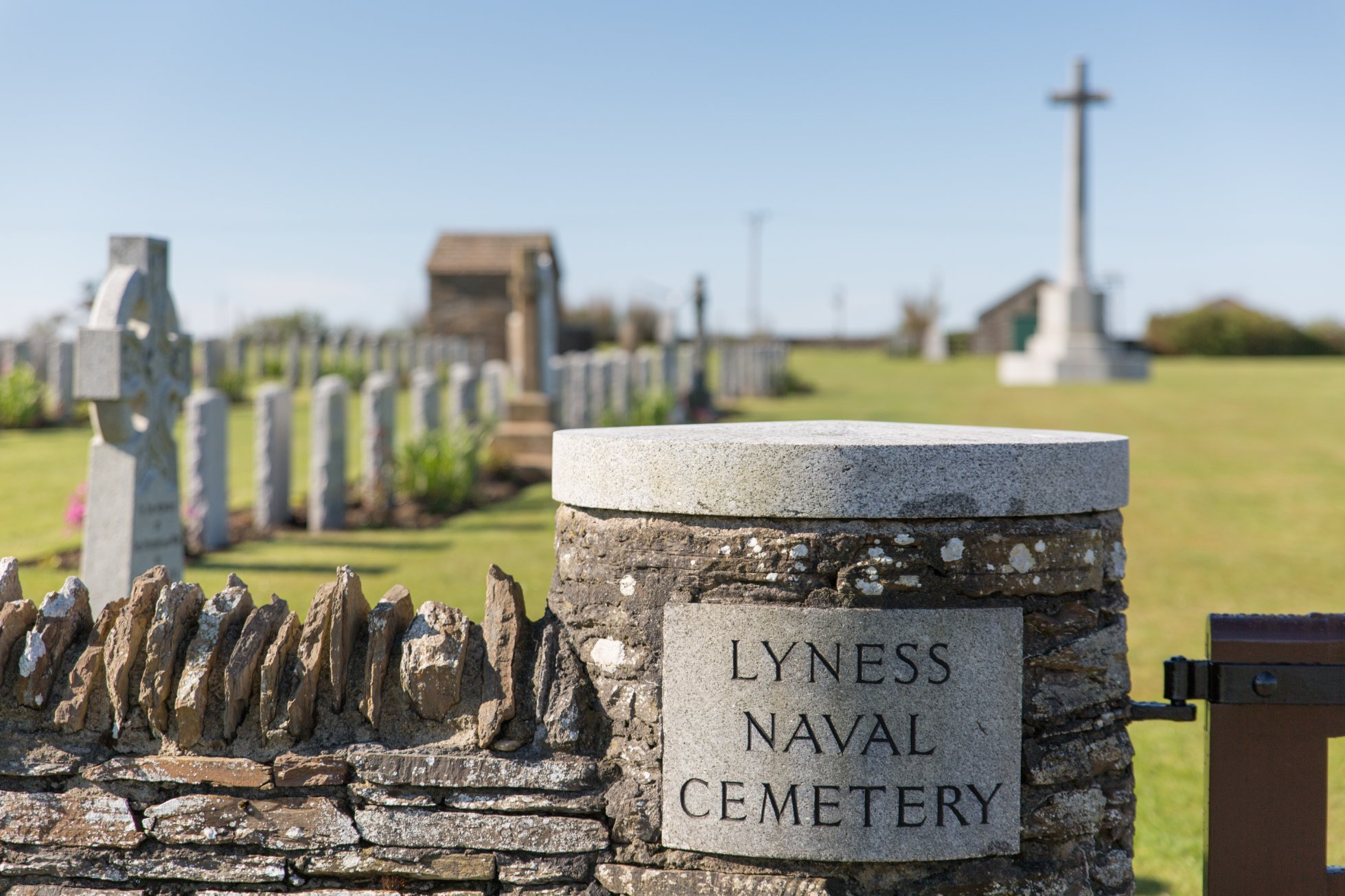 The Lyness Naval Cemetery in Hoy, Orkney