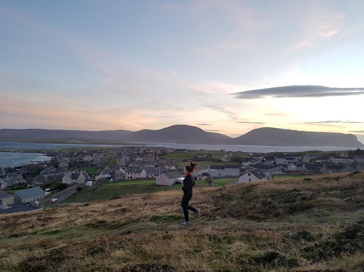 A run with a view in Stromness - image by Richy Ainsworth