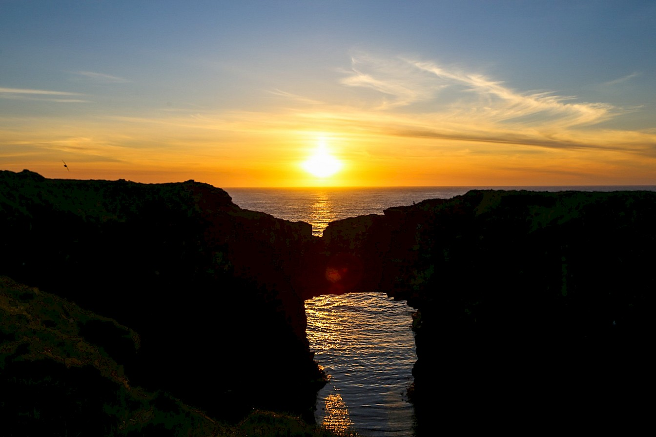 Sunrise at the Vat of Kirbister, Stronsay - image by Iain Johnston