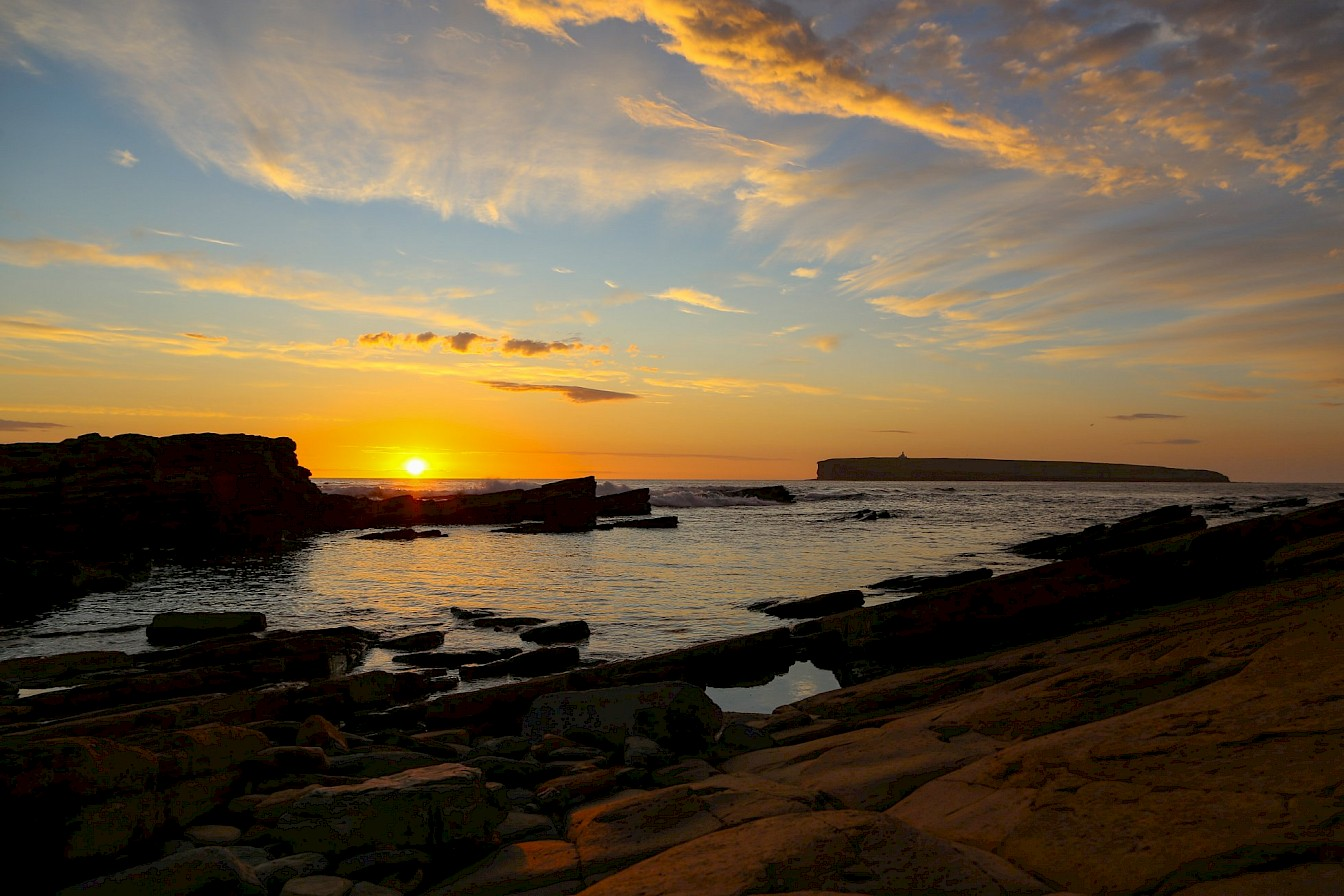 Sunset at the Brough of Birsay, Orkney - image by Iain Johnston