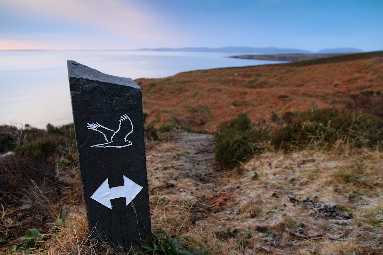 RSPB wildlife trail at Hobbister, Orkney
