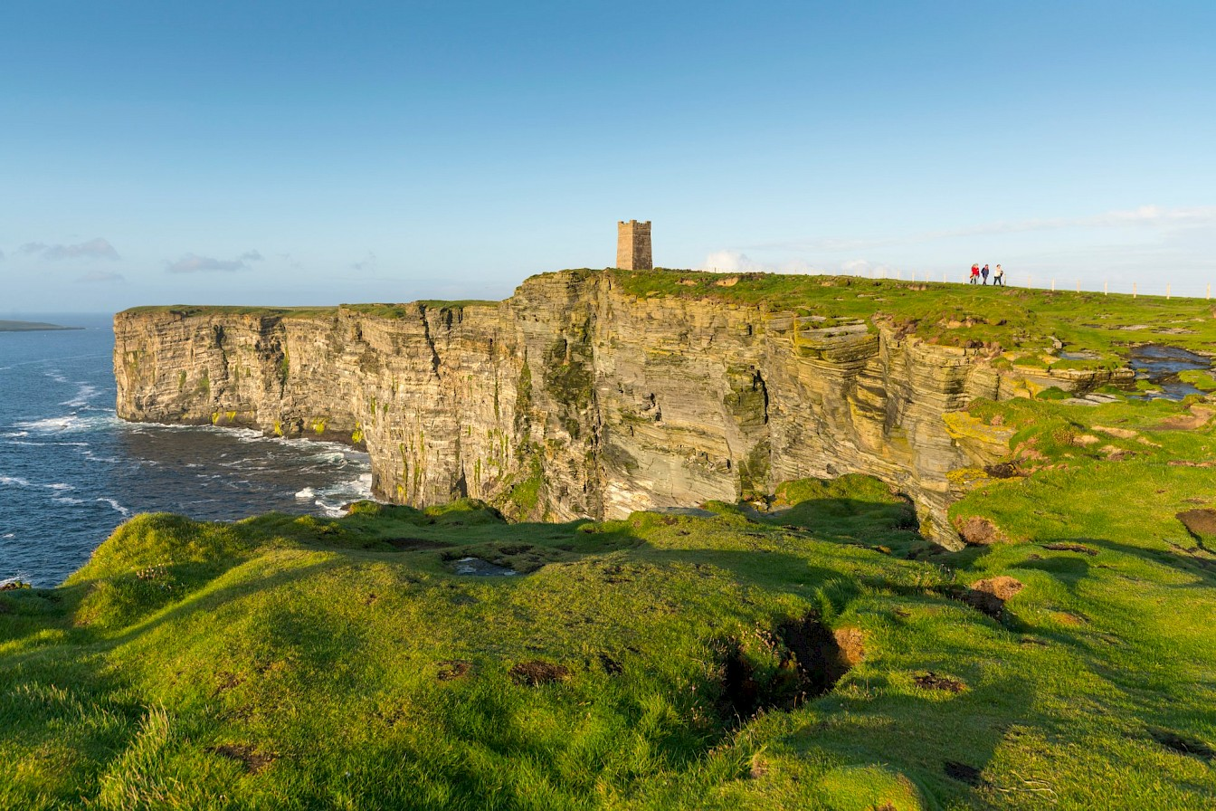 Walking at Marwick Head, Orkney - image by VisitScotland/Kenny Lam