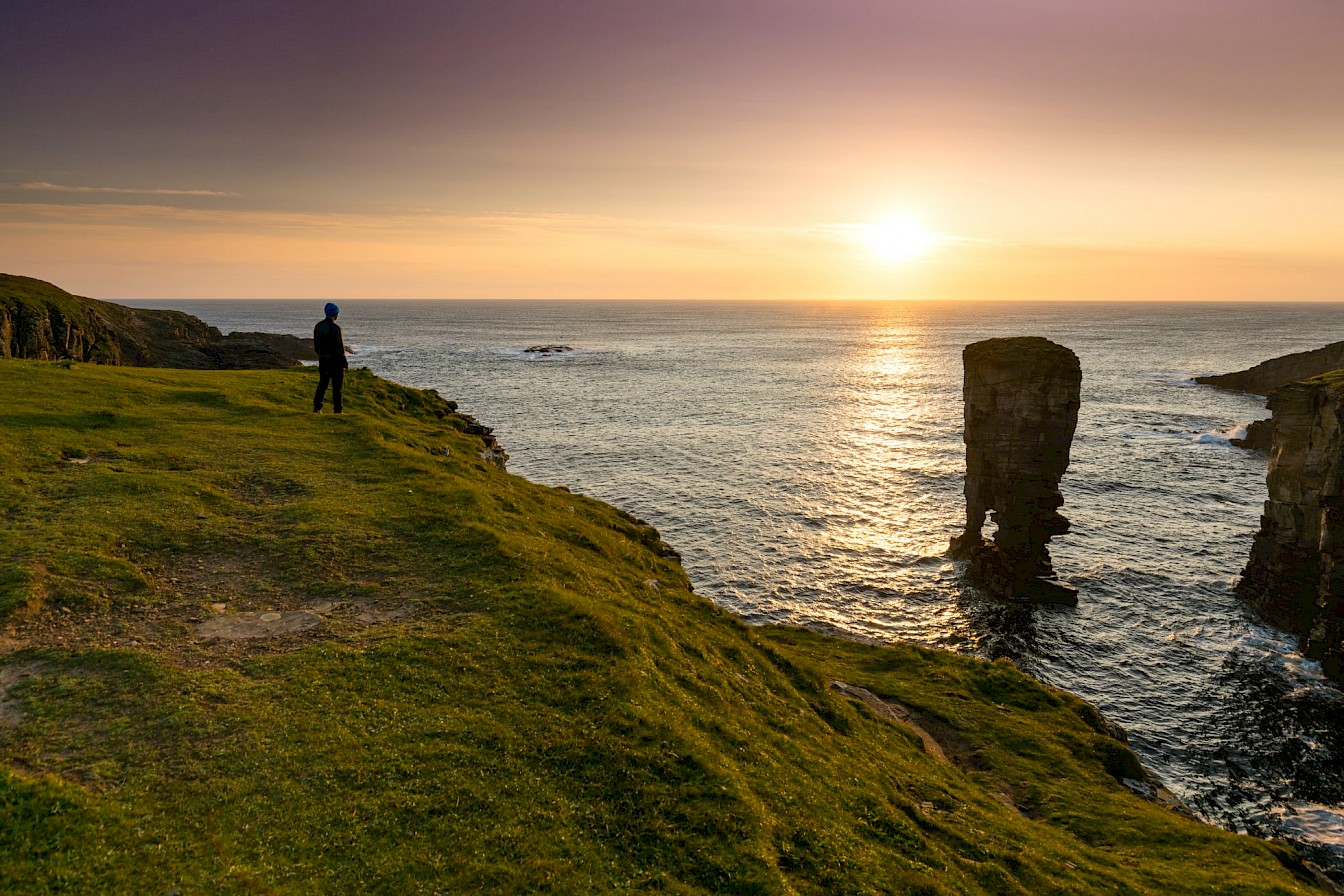 Walking on the west coast of the mainland at Yesnaby - image by VisitScotland/Kenny Lam