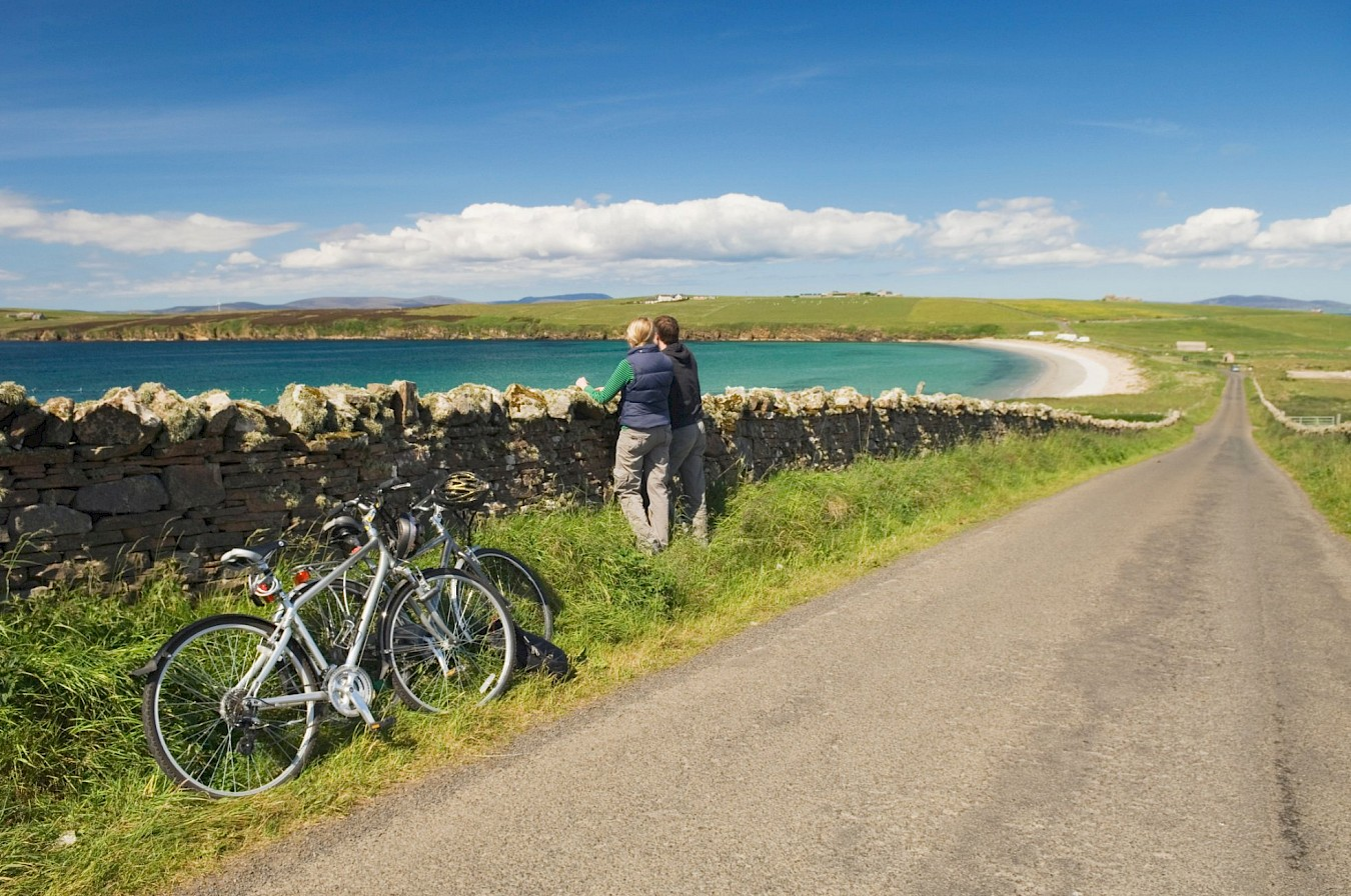 Cycling routes with a view, South Ronaldsay. Orkney - image by VisitScotland/Iain Sarjeant