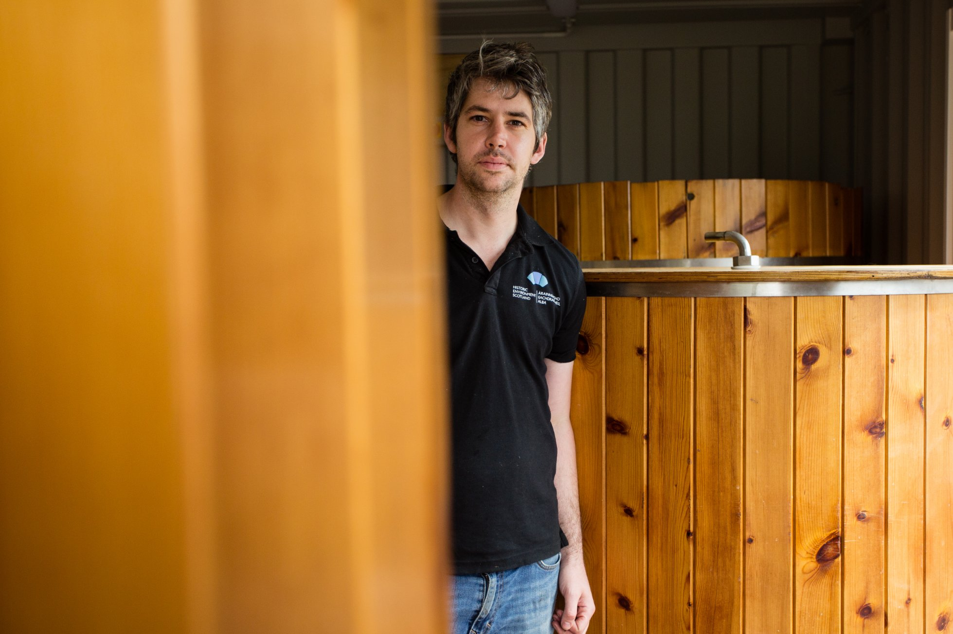 Sam Britten at the new home of Orkney Craft Vinegar in Kirkwall