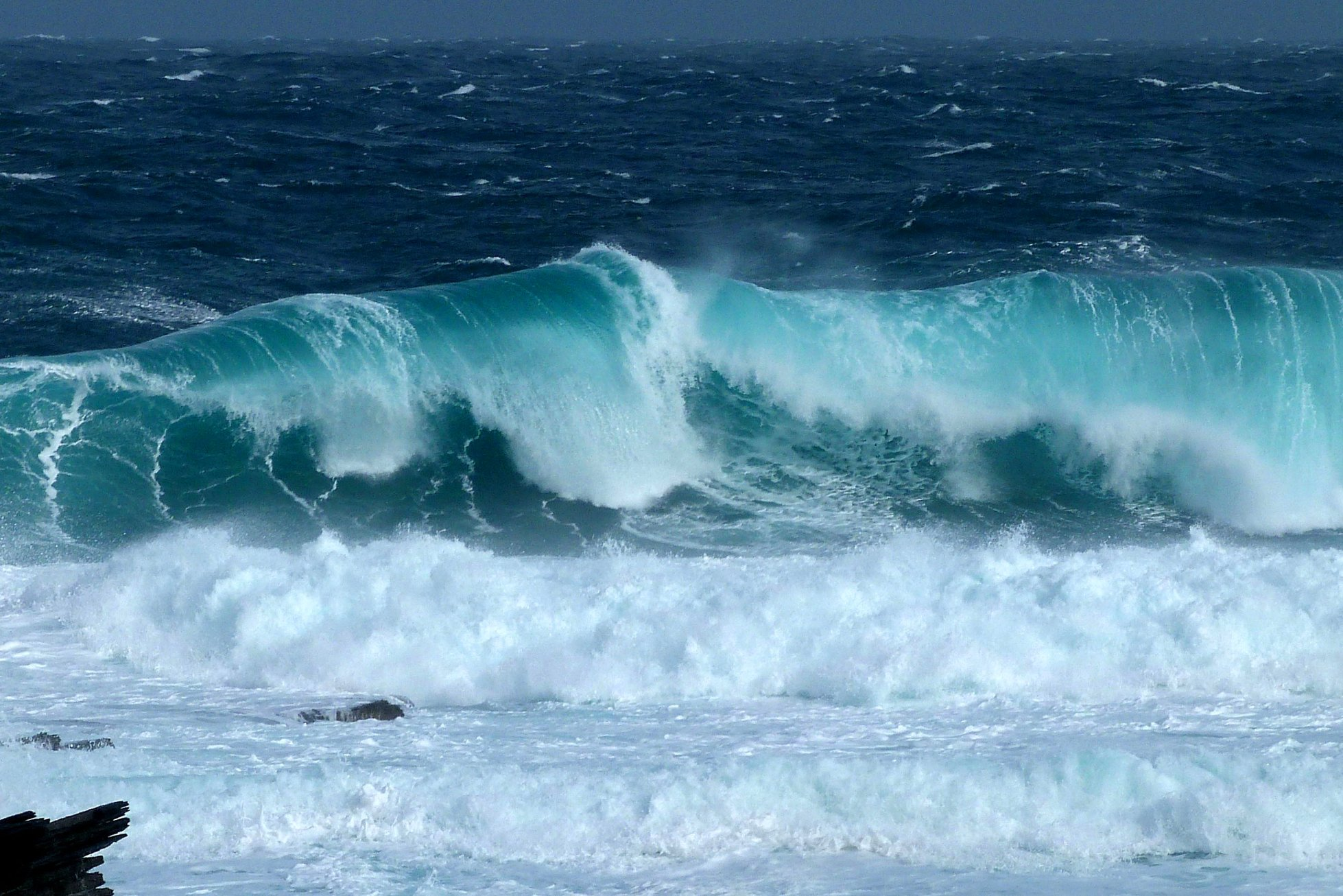 Wave-watching in Orkney - image by Carol Leslie