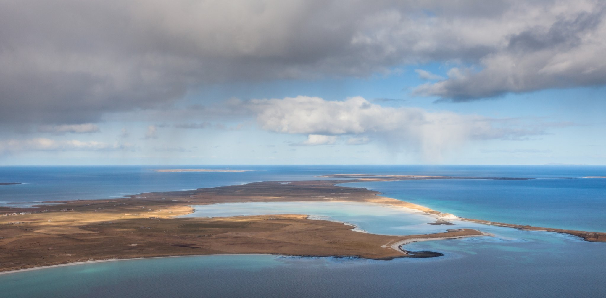 Looking north to North Ronaldsay over the island of Sanday, Orkney - image by Premysl Fojtu