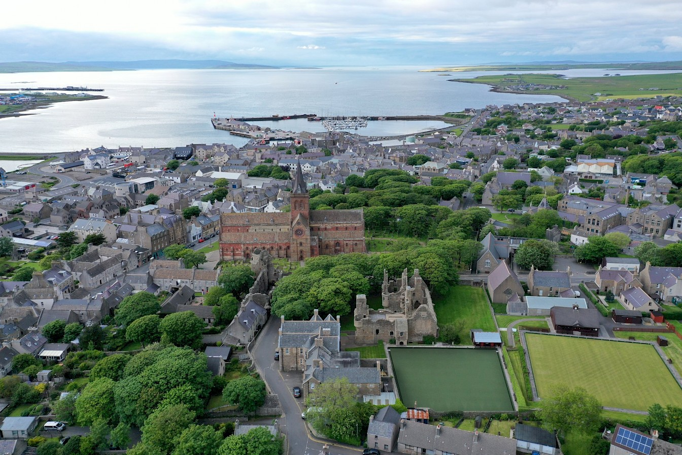 View over Kirkwall to the the north - image by Nick McCaffrey