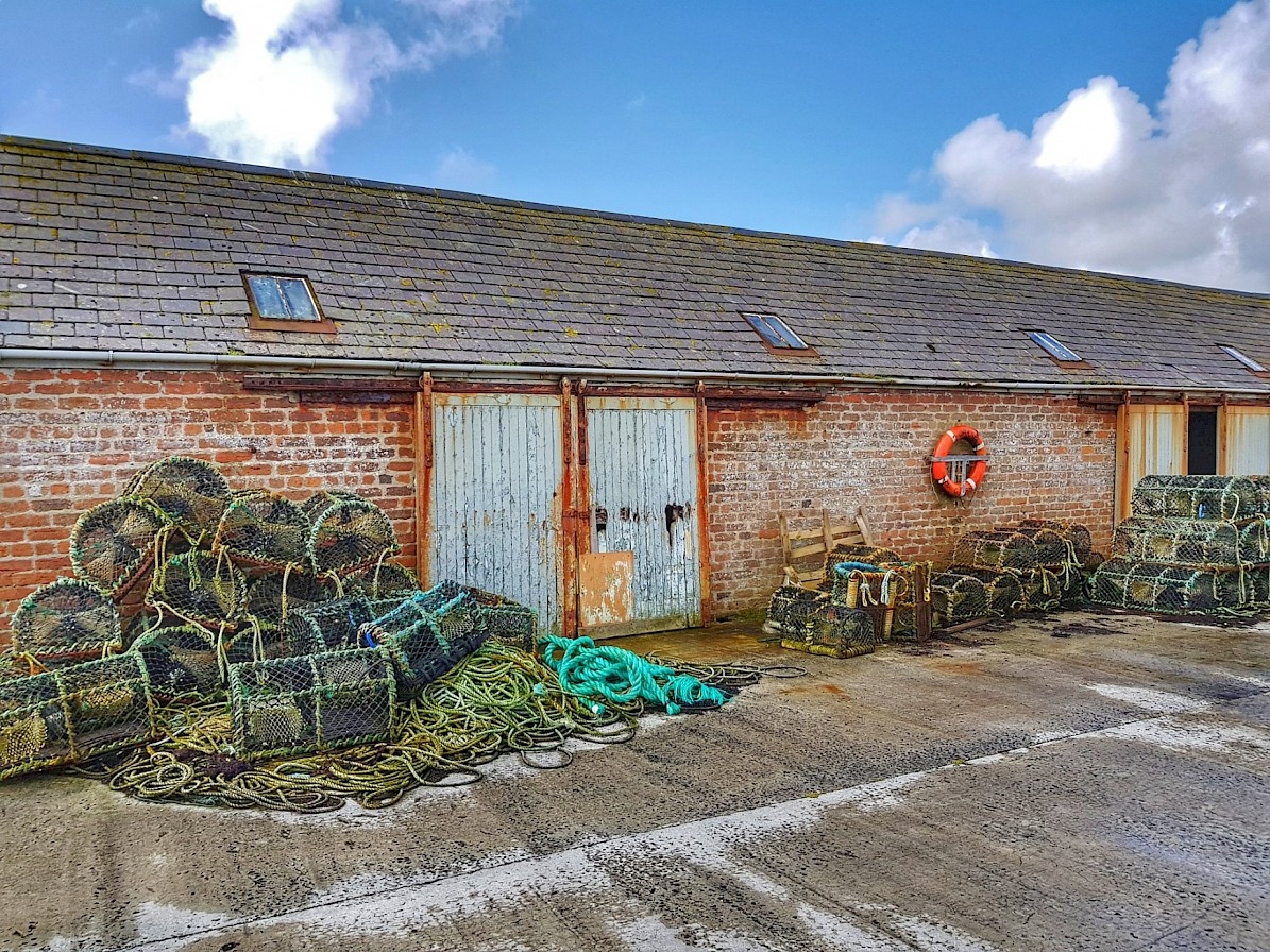 Old stores in Kettletoft, Sanday - image by Susanne Arbuckle