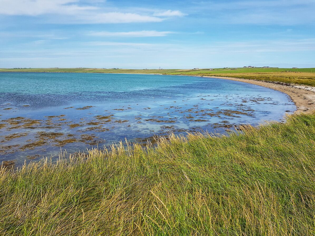 Blue skies and clear waters in Stronsay - image by Susanne Arbuckle