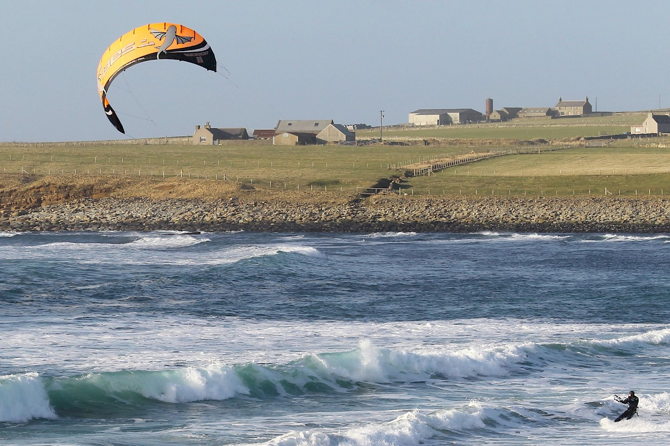 Kite surfing in Orkney - image by Rae Slater