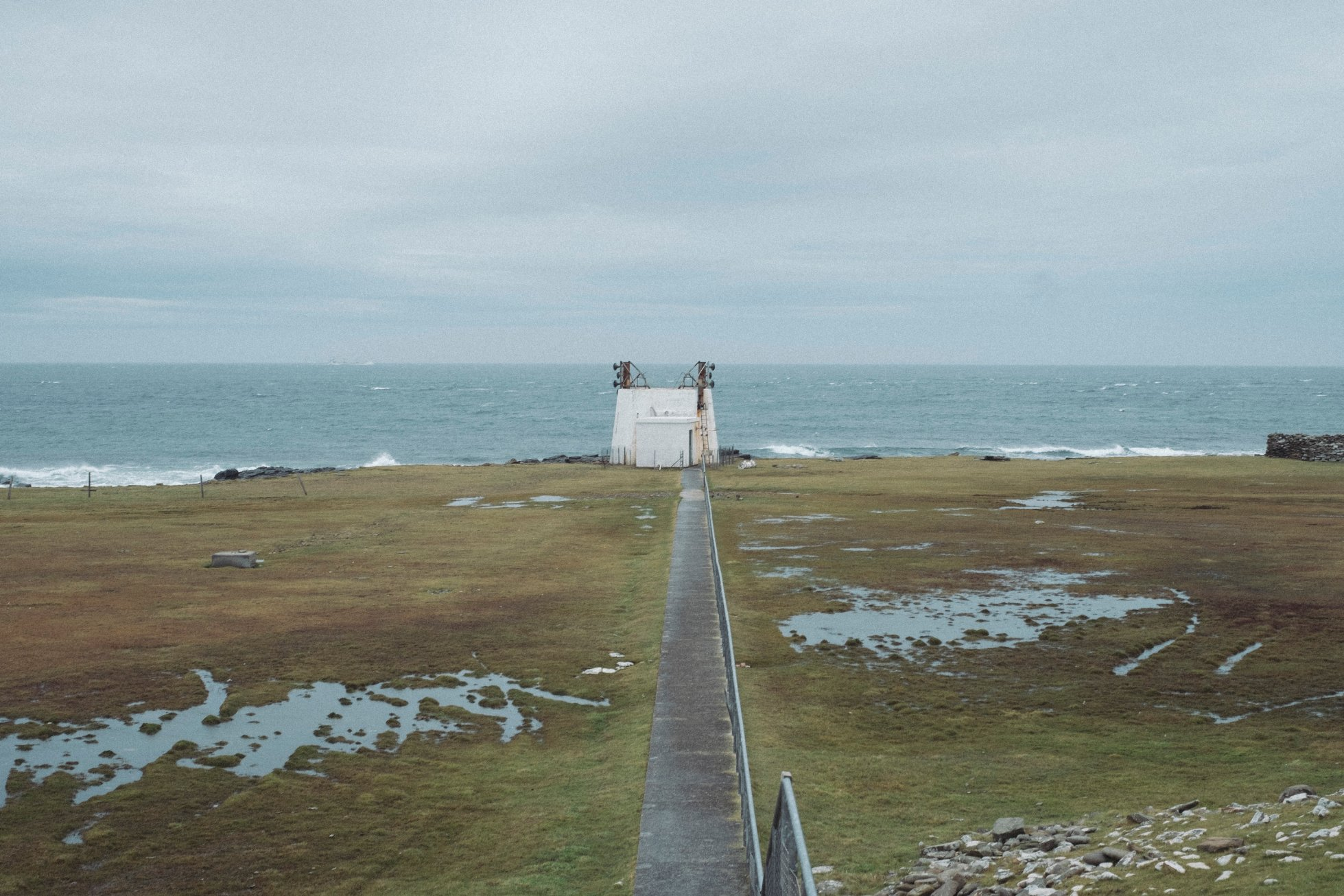 Fog horn in North Ronaldsay - image by Tomas Hermoso