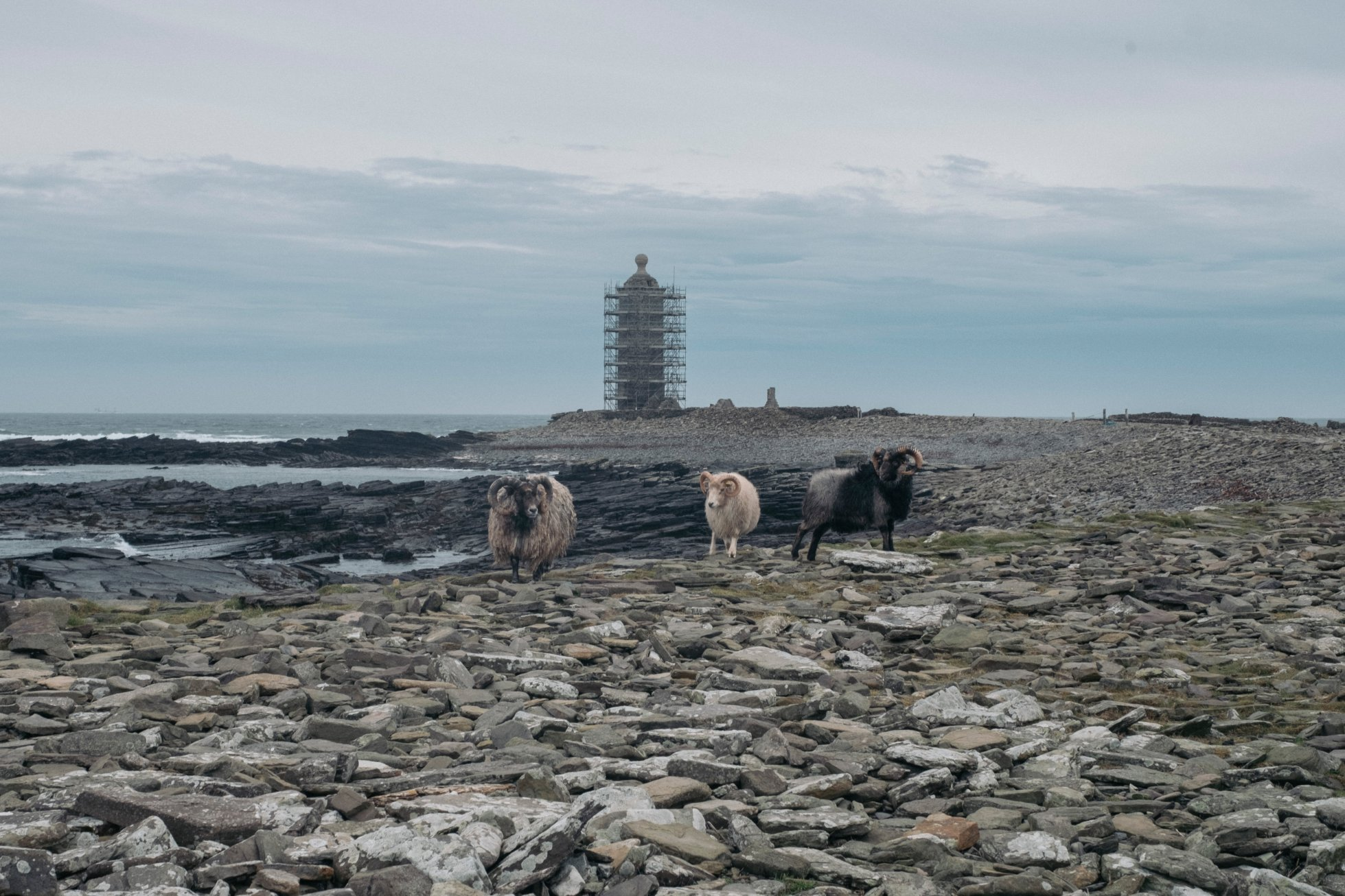 Old Beacon, North Ronaldsay - image by Tomas Hermoso