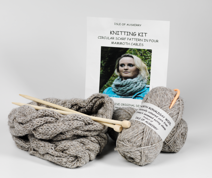 Auskerry's flock of sheep provide wool for beautiful knitting kits and furnishings