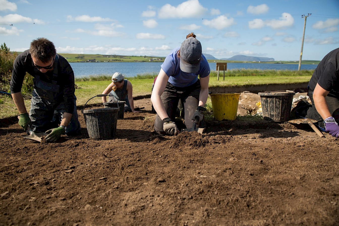 Archaeologist in action at the Ness of Brodgar