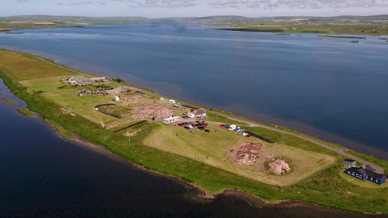 Aerial view of the Ness of Brodgar - image by Scott Pike