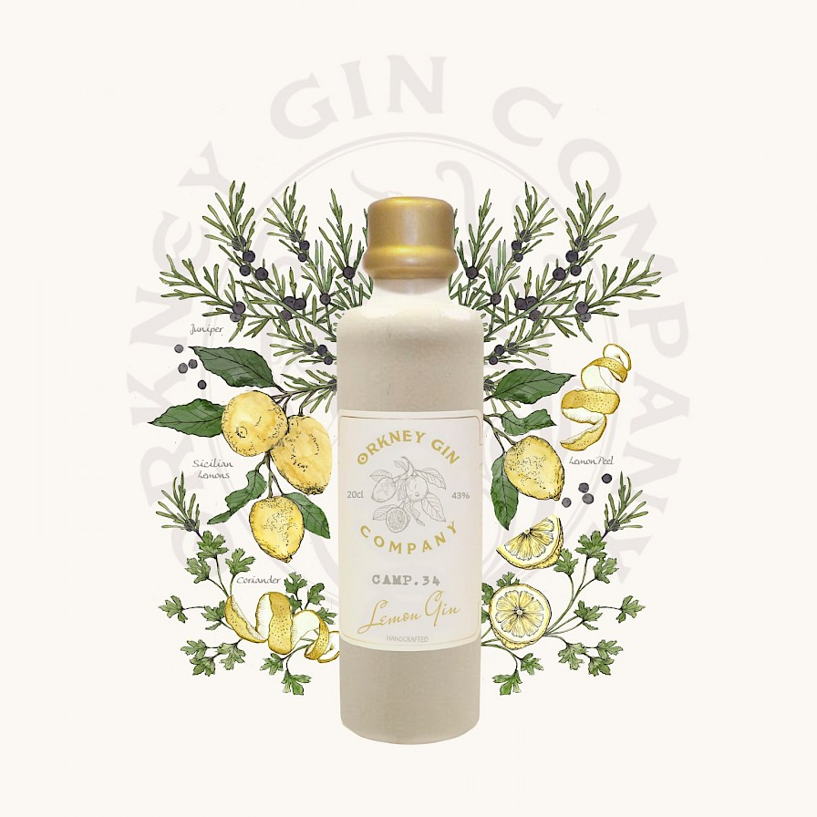 Camp 34 Lemon Gin from the Orkney Gin Company