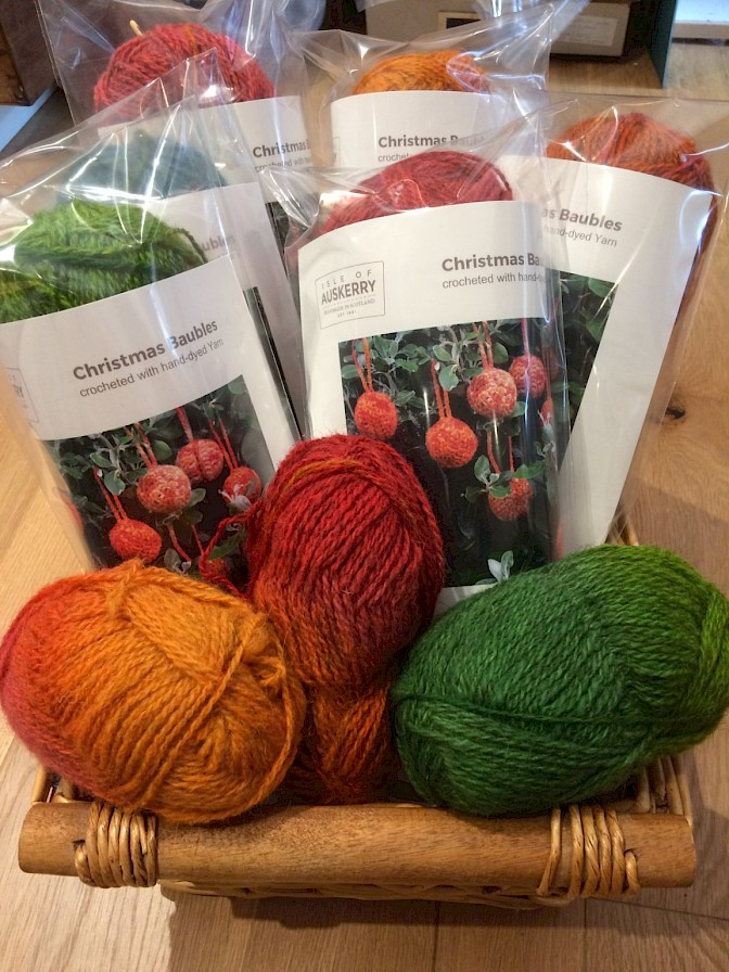 Christmas bauble crochet kit from Isle of Auskerry