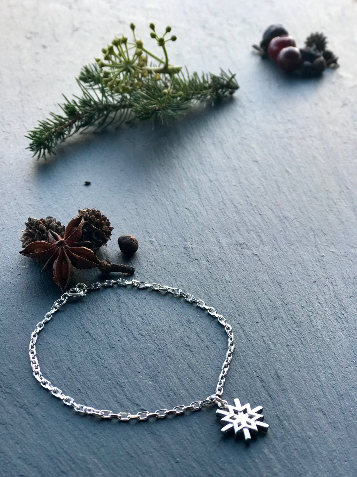 Part of the snowflake collection from Karen Duncan Jewellery