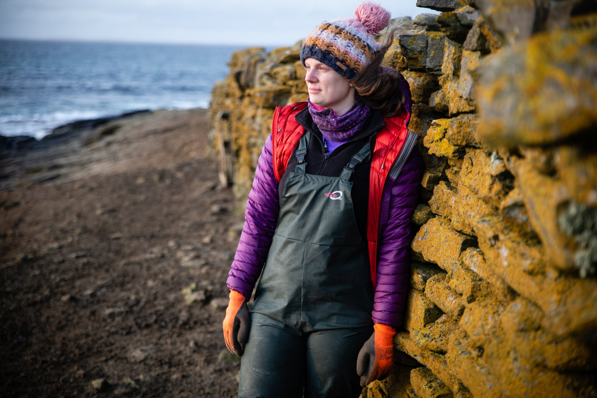 Siân Tarrant at home in North Ronaldsay - image courtesy North Ronaldsay Trust