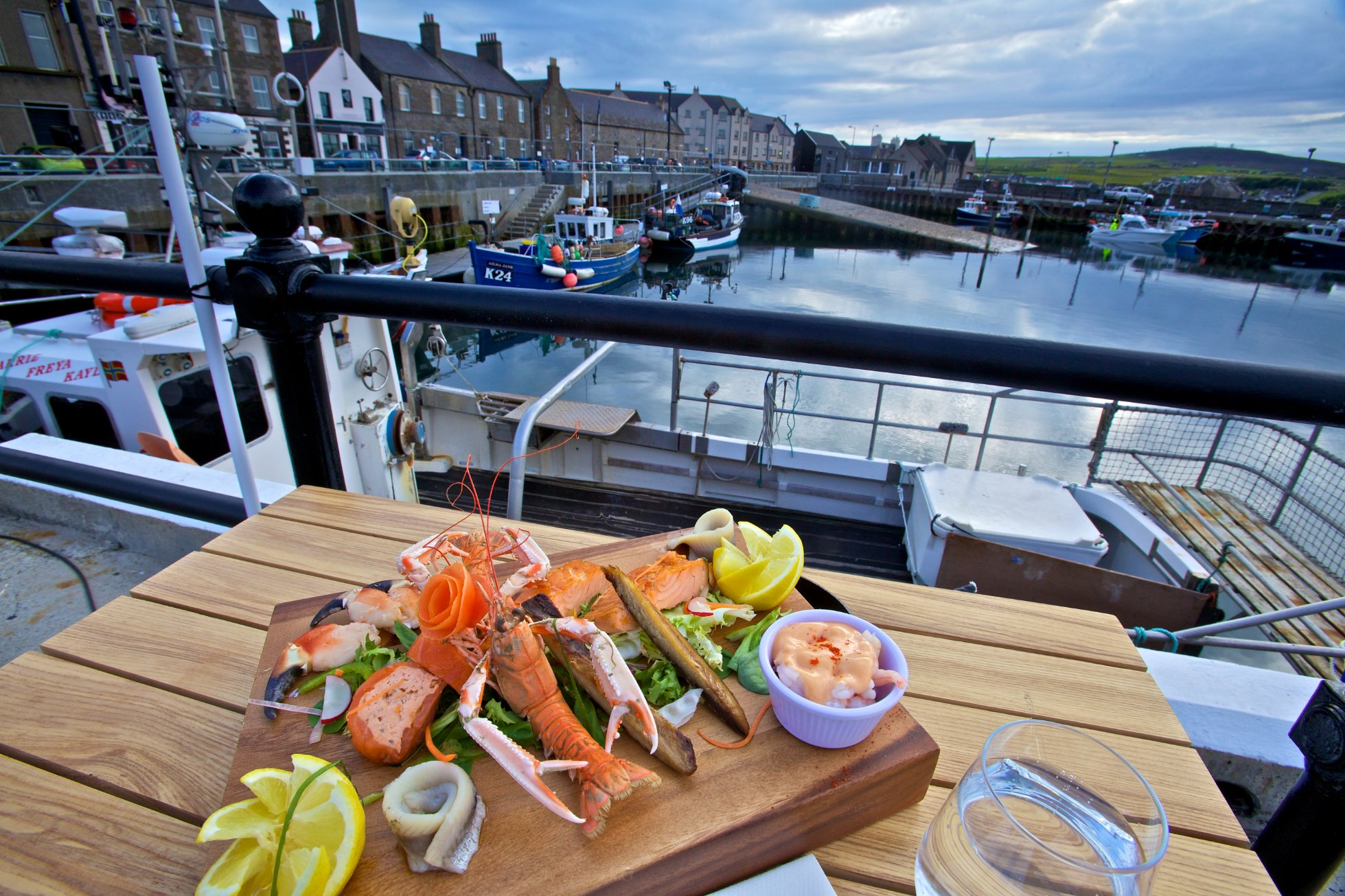 Seafood at Kirkwall Harbour - image by Colin Keldie