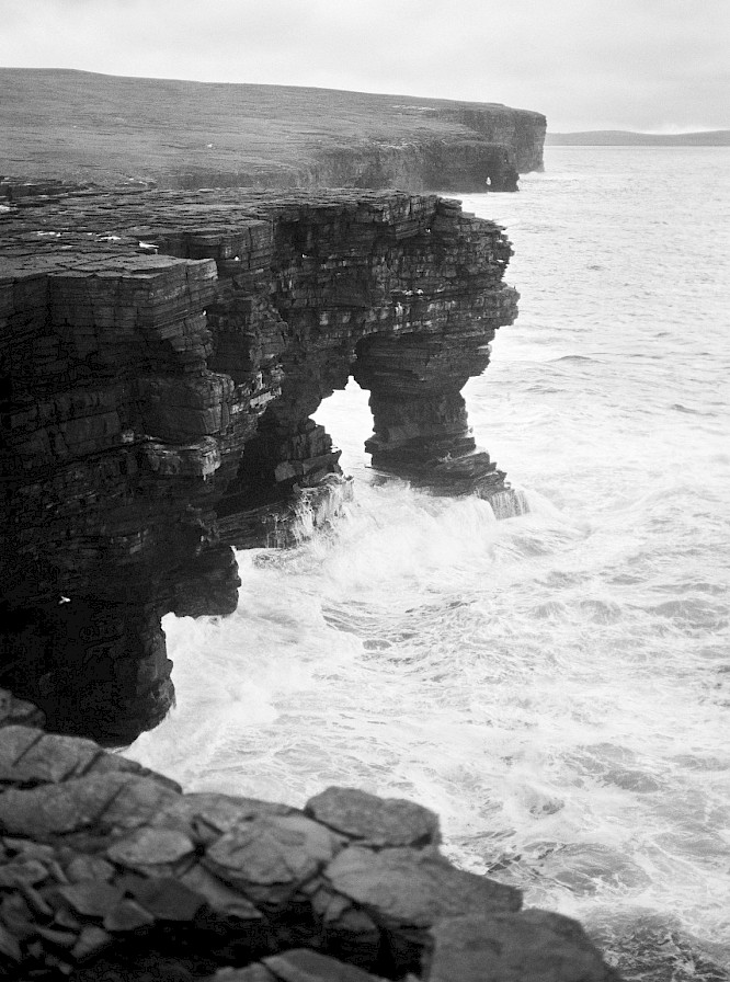 Sea arch in Rousay - image by Frances Scott