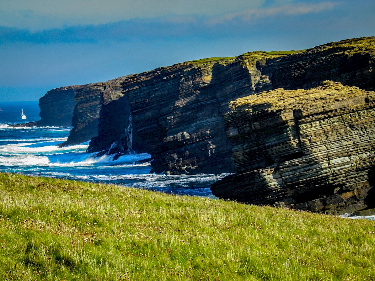 Craggy coastline in Orkney - image by Robert Towns