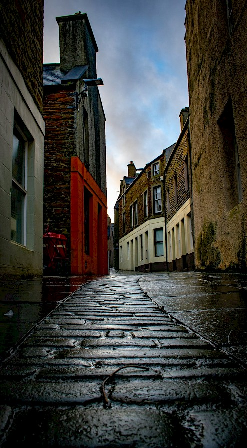 The streets of Stromness - image by Robert Towns