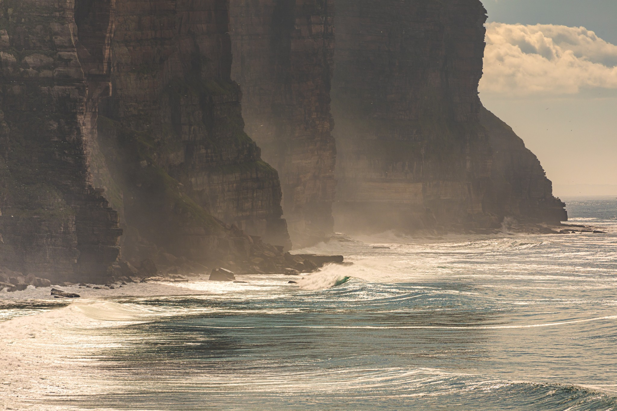 Cliffs at Rackwick, Orkney - image by Ally Velzian