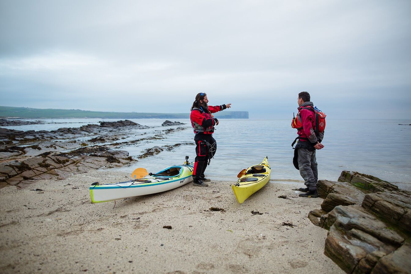 Ready to paddle at Birsay