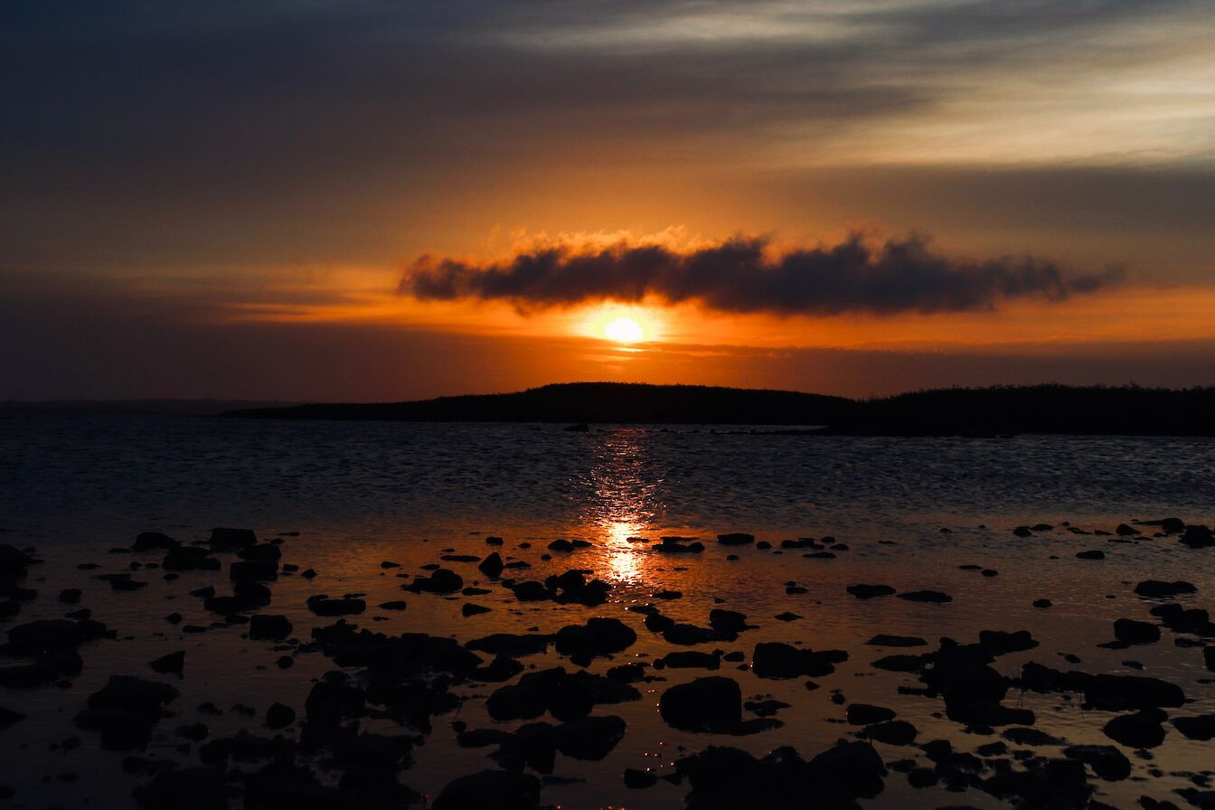 Sunset over the isles, Orkney - image by Jenna Harper