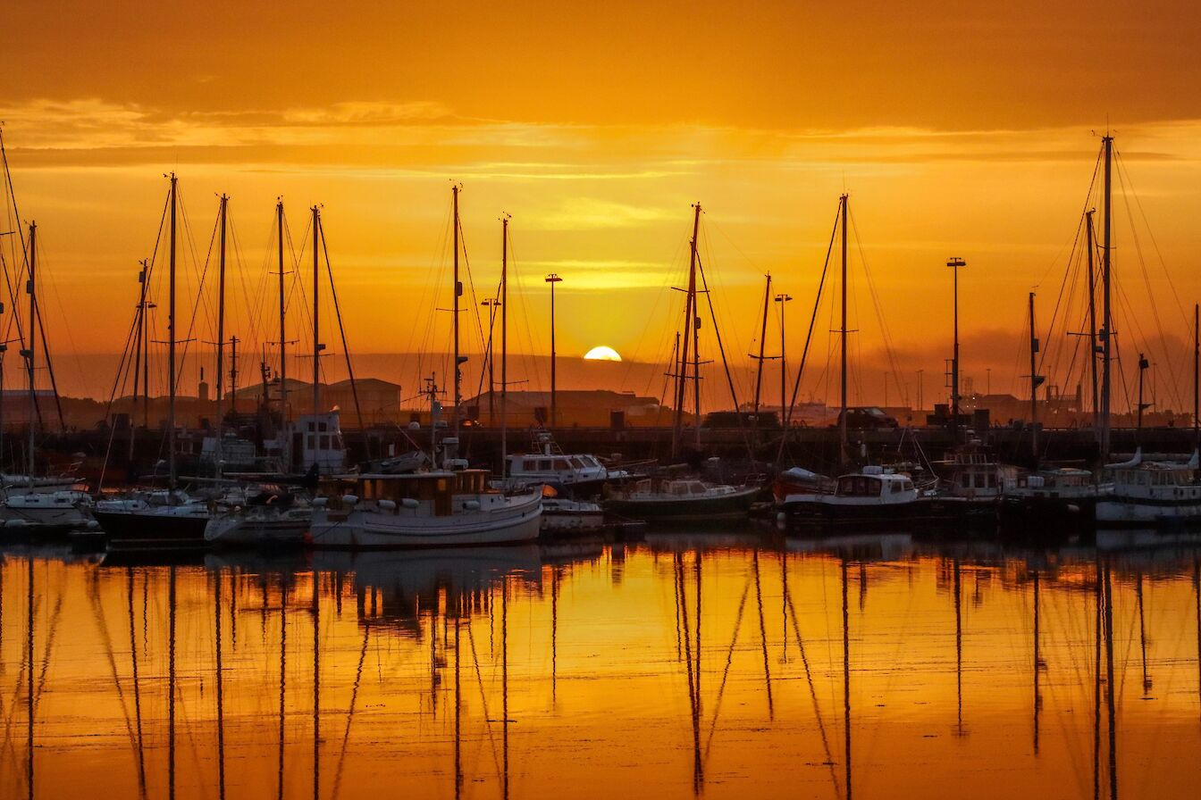 Sunset over Kirkwall Marina - image by Jenna Harper