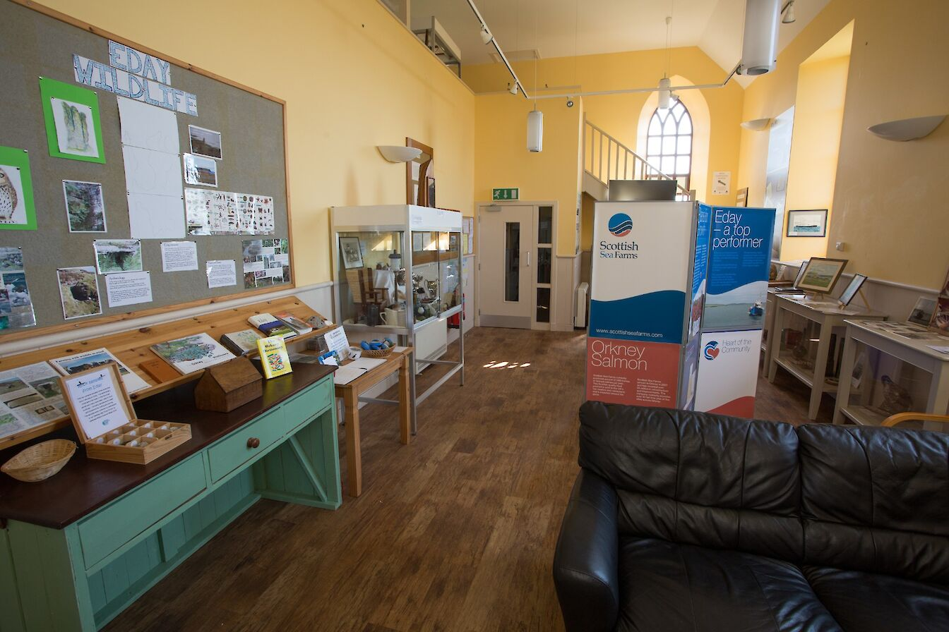 Inside the Eday Heritage Centre, Orkney